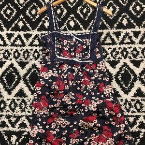Betsey Johnson slip dress floral butterfly size 6